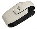Blackberry Curve 8300 Leather Swivel Holster, Pearl White